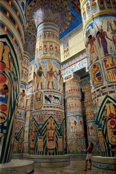 Ancient Egyptian Cities, Ancient Egypt Art, Egyptian Art, Ancient History, Ancient Egypt Architecture, Ancient Buildings, Life In Egypt, Tower Defense, Le Palais