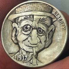 John Schipp creates a collection set of coins that he calls 'Grandma Schipp's Family Album'. The collection is sculpted out of nickel coins. Sculpture Art, Sculptures, Hobo Nickel, Coin Art, Antique Coins, Silver Coins, Cool Artwork, Art Forms, Metal Art