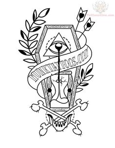 Traditional Tattoo Coloring Book And Traditional Tattoo Flash Coloring Book Together With Like This Item Tattoo Designs Coloring Book Coloring Pages Disney Pdf 513 Coffin Tattoo, Design, Tattoo Coloring Book, Picture Tattoos, Drawings, Graveyard Tattoo, Artwork, Really Cool Drawings, Tattoo Designs