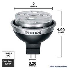 Philips 10w 12v Dimmable MR16 EnduraLED GU5.3 3000K Flood Light Bulb