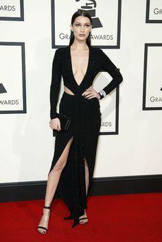 Bella Hadid at the Grammys 2016