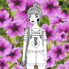 A gente começa e termina o dia com flor. ☺️ | Código para impressão: 0069 ✨ #aflorigrafia #maisflorporfavor #florigrafias #achadosdasemana