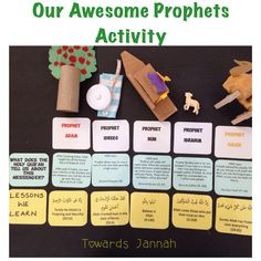 Our Awesome Prophets activity Ramadan Activities, Ramadan Crafts, Learning Activities, Activities For Kids, Ramadan Decorations, Interactive Learning, Teaching Kids, Kids Learning, Islamic Studies