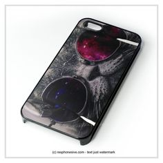 http://www.my-icover.nl , Cat Wear Glasses iPhone 4 4S 5 5S 5C 6 6 Plus , iPod 4 5 , Samsung Gal – resphonesive ✿