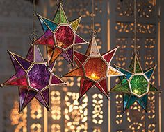 Moroccan Handmade Star Glass Lantern by TheBlankDesigns on Etsy