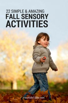 22 awesome and easy fall sensory activities that are perfect for toddlers, preschoolers, and kids! Get inspired and find simple and unique ideas. Sensory Rooms, Sensory Activities, Sensory Play, Learning Activities, Toddler Learning, Preschool Activities, Halloween Activities For Kids, Outdoor Activities For Kids, Fun Games For Kids