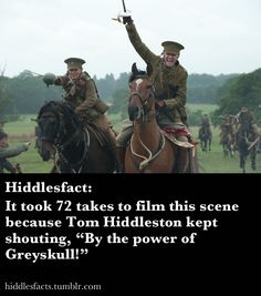 So I see this Hiddleston dude all over the internet... I didn't really get it, and then there was this.