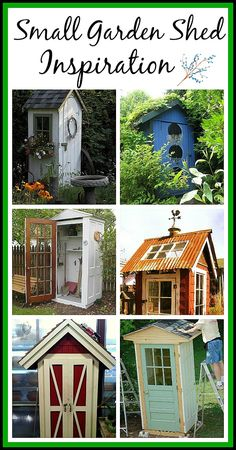 Shed DIY - Not big enough for the snow thrower/lawn mower. But so damned cute Id love one in the flower jail for the gardening tools. small garden shed ideas Now You Can Build ANY Shed In A Weekend Even If You've Zero Woodworking Experience! Small Garden Tool Shed, Small Shed Plans, Small Sheds, Garden Sheds, Backyard Sheds, Garden Structures, Outdoor Structures, Diy Jardin, Shed Homes