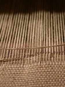 How to Make a Homemade Weaving Loom. This looks easy enough for me to try...