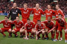 Liverpool FC 08/09 squad. Alonso, Mascherano, Torres, Reina... Talented group came closest to winning title under Rafa Benitez.