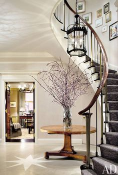 Traditional Entrance Hall by Cullman & Kravis and John B. Murray in New York, New York