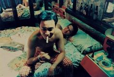 Leslie Cheung & Tony Leung | Happy Together (1997, dir. Wong Kar Wai)