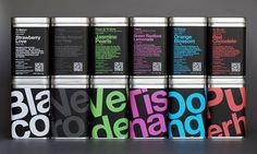 Bold Typography & Color Choice  ///   LS / Tea Sommelier