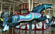 The Jantzen Beach Carousel -- Parker Outside Row Jumper, by Greg Nance Carrousel, Sea Isle City, Horse Mane, Wooden Horse, Painted Pony, Merry Go Round, Carousel Horses, Spirit Animal, The Row