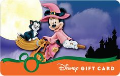 New Halloween Designs:  In-Park Halloween Disney Gift Cards Have Glowing Surprise