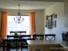 Dining Area with fun pops of color