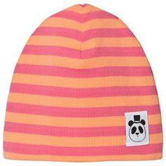 Mini Rodini Stripe Rib Beanie Pink Pink