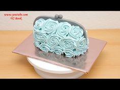Handbag Buttercream Cake - Piping Buttercream Roses - YouTube