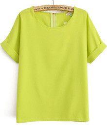 Lime Green Chiffon Shirt