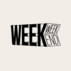 For every week, there's always the weekend 🎉 Illustration by . Type Design, Design Art, Web Design, Typography Letters, Graphic Design Typography, Lettering Design, Matt Blease, Wallpapers Tumblr, Typographie Logo