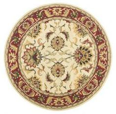 Agra - Beige / Burgundy Rug : Persian Tufted Collection - Photo Museum Store Company