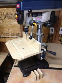 "Built a bigger and better ""Drill Press Table."""