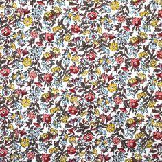 Turquesa Estampado Floral En Tela De Algodón Césped 140 cm Ancho Confección Quilting