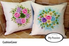 One stroke painting on Cushion Cover