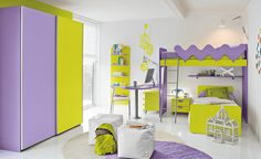 Colorful Children Bedroom for Creative Children's Growing Experience : Chic Kids Bedroom With Bunk Bed Ideas