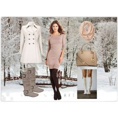 """Warm Winter Outfit"" by vitalinachka on Polyvore"