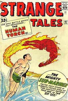 Comic Book Critic - Google+ - Strange Tales #107 (Apr '63) cover by Jack Kirby & Sol Brodsky.