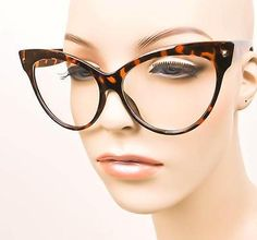 8c826565ed Oversized Large SEXY Cat Eye Wayfarer Pin Up Clear Lens Nerd Glasses Frames  Big Big Glasses