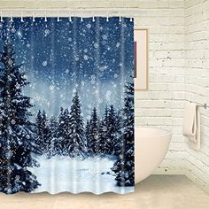 Foog Sonwflake Shower Curtain Forest White Bath Shower Cu... https://www.amazon.com/dp/B01NAIP3TJ/ref=cm_sw_r_pi_dp_x_xgswybX7CXSBW