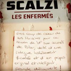 Les enfermés de John Scalzi  @edlatalante  Coup de coeur @ladimensionfantastique Paris 10è #book #livre #sciencefiction #lespetitsmotsdeslibraires