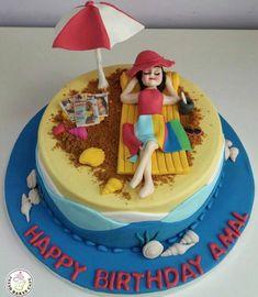 """Képtalálat a következőre: """"birthday cake beach theme"""""""