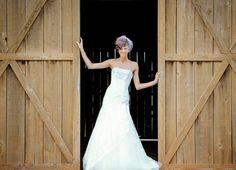 Barn doors wedding dress