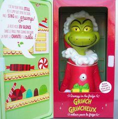 Hallmark Dr. Seuss Christmas 2013 Grumpy in the Fridge Grinch Motion Activated
