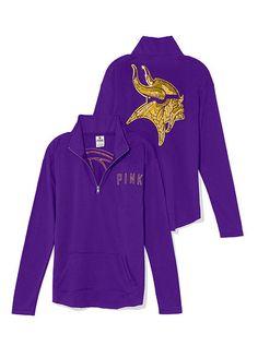 Minnesota Vikings Bling Half Zip Pullover PINK! I NEEEDD THIS!!!!