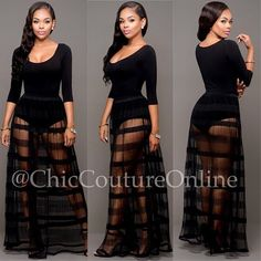 """BLACK-ON-BLACK www.ChicCoutureOnline.com Search: """"Kyla"""" top ~ """"Quay"""" skirt  #fashion #style #stylish #love #ootd #me #cute #photooftheday #nails #hair #beauty #beautiful #instagood #instafashion #pretty #girly #pink #girl #girls #eyes #model #dress #skirt #shoes #heels #styles #outfit #purse #jewelry #shopping"""
