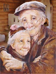 grand mère et grand père c'est tellement minon