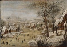 Pieter Brueghel the Younger (1564–1638) | Winter Landscape with Skaters and a Bird Trap