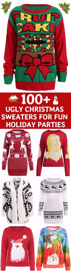 100+ Awesome Ugly Christmas Sweaters | Start at $10 | Coupon Code: SDPS | DIY Christmas | DIY Sweaters | Merry Christmas | Happy New Year | Party Outfit | Sammydress.com
