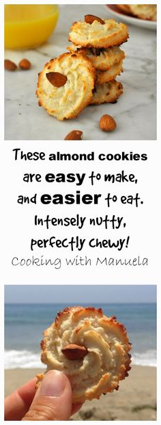 Easy to make, easier to eat! Cooking with Manuela: Almond Cookies - Pasticcini alle Mandorle