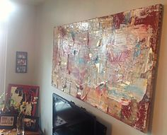 """silver lining"" mj 5'x2.5' $625 http://next-level-art.tumblr.com  #toronto #abstract #art #libertyvillage"