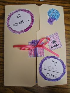 Crayons & Cuties In Kindergarten: Mother's Day Lapbook, 'Diamond' Necklace and Tea!
