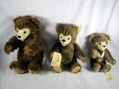 Baby's first bears! - Lot (3) Clifford Berryman Bears 1986 & 1996 Steiff Bears 0255/35 & 665097 & 2002