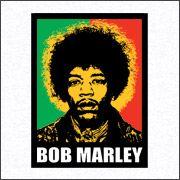 Jimi hendrix bob marley shirt