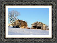 The Barn And Garage Framed Print By Bonfire #Photography