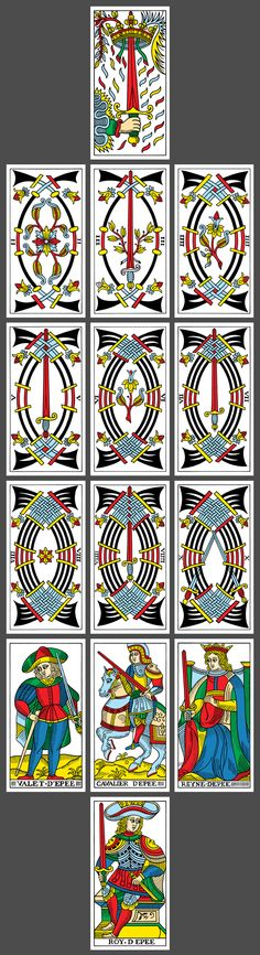 CBD Tarot de Marseille (based on the Nicholas Conver deck): Suit of Swords // yoav ben-dov, 2010