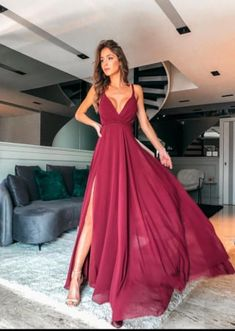 new fashion a-line chiffon long prom dress CR Senior Prom Dresses, Pretty Prom Dresses, Prom Outfits, Gala Dresses, Dance Dresses, Elegant Dresses, Cute Dresses, Beautiful Dresses, Evening Dresses